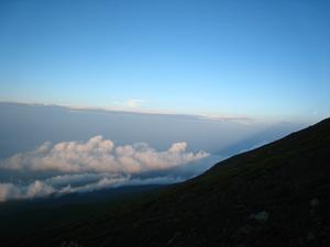 富士山 河口湖ルート 7合目からの風景