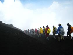 富士山の下山風景
