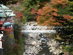 堂ヶ島温泉・対星館花かじかのそばのある橋で早川に架かる橋