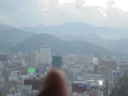 テレビ塔の展望室から見た円山