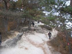 昇仙峡ハイキングコース 弥三郎岳遊歩道 石の道