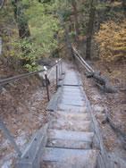 昇仙峡ハイキングコース 弥三郎岳遊歩道 山頂手前の階段