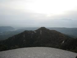 昇仙峡ハイキングコース 弥三郎岳遊歩道 山頂からの風景