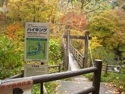 昇仙峡 羅漢寺ハイキング案内看板