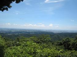 かすみ台展望台からの風景
