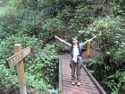 大山橋を渡りきってから振り返ったところ