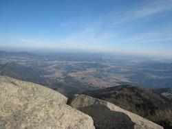 筑波山 女体山山頂からの風景