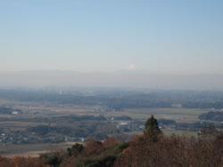 筑波山市営第4駐車場から見えた富士山