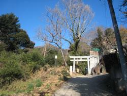 白雲橋コース入口の白い鳥居
