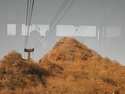 筑波山ロープウェイから見た女体山山頂